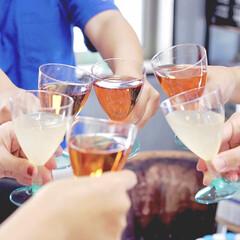 写真映え/プチプラ/プラスチック/ワイングラス/フライングタイガー/カンパイ/... 先週末に我が家で女子会をしました♡  こ…(1枚目)