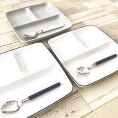 こどものいる暮らし/ワンプレートごはん/シンプルデザイン/フランフラン/子ども用/スプーン/... モノトーンやシンプル系の キッチン雑貨に…