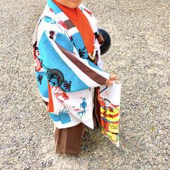 息子/袴着/レンタル着物/成長記録/祈祷/参拝/... 多分同じ年齢の子たちの中では 一足お先か…