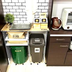 トレー収納/野菜収納/結束バンド/つっぱり棒/デッドスペース活用法/デッドスペース/... キッチン背面のデッドスペースです。  ダ…