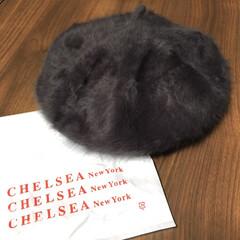 おすすめ/お買い得/冬物セール/シンプルデザイン/チャコールグレー/ファッション小物/... ベレー帽を新調しました♡  チャコールグ…