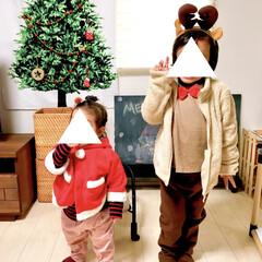 リビング/1歳/4歳/兄妹/こどものいる暮らし/トナカイ/... クリスマスがやってきた!コンテストに参加…
