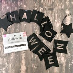モノトーンインテリア/シンプルデザイン/ガーランド/ハロウィングッズ/ハロウィン雑貨/ハロウィンインテリア/... 10月のイベントといえばハロウィン♡  …
