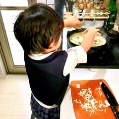 具沢山/寄せ鍋/なべ/鍋料理/お手伝い/4歳/... 朝夕は寒くなってきたので 今年はもう既に…(2枚目)