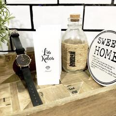 サブウェイタイル柄/壁紙DIY/シンプルコーデ/シンプルデザイン/ハワイ/星空/... お気に入りの腕時計を カフェ風ディスプレ…