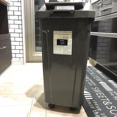 ハンドル付ダストボックス45L 6726 ブラウン | アスベル(ゴミ箱、ダストボックス)を使ったクチコミ「わたしのDIYコンテストに参加します♪ …」