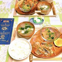 晩ご飯/sm2/箸置き/アカシアプレート/炒め煮/大根/... ある日の晩ご飯です。  《 メニュー 》…