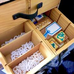 木製仕切りケース/パーツ入れ/消しゴムはんこ/ハンコ入れ/アクセサリー収納/ヘアゴム収納/... わたしのDIYコンテストに参加します♪ …(3枚目)