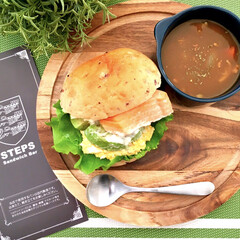 プチプラ雑貨/スープカレー/ココット/木のぬくもり/アカシアプレート/食器/... とある日のおうちカフェランチ♪  大好き…