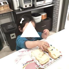 こどものいる暮らし/1歳/女の子ママ/簡単料理/親子で楽しく/ロールパン/... 私が学生の頃に朝食でよく食べていた ハム…(3枚目)