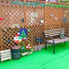 カインズホーム/ラティスフェンス/人工芝マット/お庭DIY/お庭/クリスマス仕様/... クリスマスがやってきた!コンテストに参加…