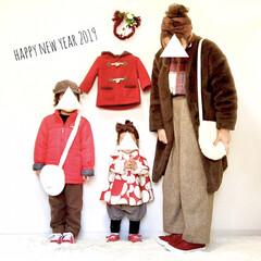 初詣/防寒/あったか/ファー小物/ブラウン/紅白/... あけましておめでとうございます。 本年も…
