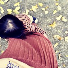 ベイクドカラー/ワントーンコーデ/リンクコーデ/親子で/さんぽ/散歩/... 子連れでよく行く 大きな公園があるのです…