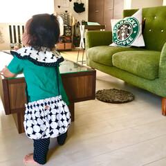 100均リメイク/キャンドゥリメイク/キャンドゥ/簡単/縫わない/かぼちゃパンツ/... 4歳と1歳の子どもがいます。 子どもの成…(3枚目)