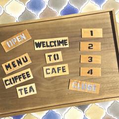 セリアリメイク/木製仕切りBOX/木製仕切りケース/親子で楽しく/カフェ風/マグネット/... わたしのDIYコンテストに参加します♪ …