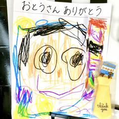 こどものいる暮らし/似顔絵/ありがとう/プチギフト/かわいい/ネクタイ/... 今日は父の日ですね。  我が子は4歳と1…