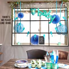DIY女子/窓枠DIY/アイアン風/壁紙DIY/建売住宅/リビングダイニング/... 我が家のリビングダイニングです。  シン…