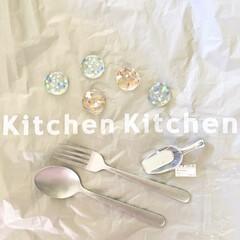キッチンキッチン/カラフル/透明/涼しげ/箸置き/フォーク/... おすすめ100均アイテム♡  キッチンキ…