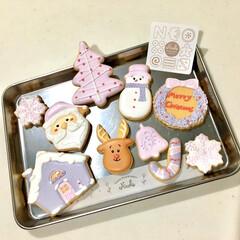 くすみピンク/人気商品/クリスマス限定/手作りクッキー/アイシングクッキー/クリスマス2019/... メリークリスマスイブ♪  クリスマスは大…