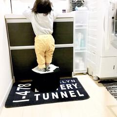 牛乳パックイス/手洗い/洗面所インテリア/洗面所収納/洗面所/1歳/... モノトーン雑貨で統一した洗面所です。 よ…