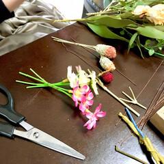 アルミワイヤー/100均DIY/簡単DIY/春雑貨/ワークショップ開催/自宅で/... 今日は自宅で3回目のワークショップを開催…