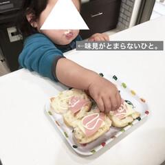 こどものいる暮らし/1歳/女の子ママ/簡単料理/親子で楽しく/ロールパン/... 私が学生の頃に朝食でよく食べていた ハム…(4枚目)