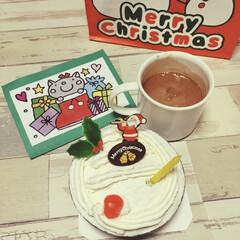 クリスマスケーキ/クリスマスプレゼント/クリスマス会/お土産/幼稚園/クリスマス2019/... 息子(年中組)が通う幼稚園では 昨日一足…(1枚目)