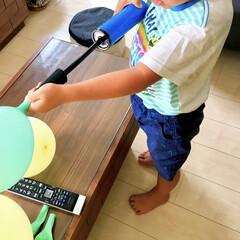 ありがとう/感謝/バースデー準備/風船/誕生日飾り/お兄ちゃん手作り/... おはようございます♪  先日、娘が2歳の…