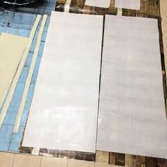 DIY女子/ビフォー画像/施工中/壁紙/モニター/壁紙リメイク/... 販売前の壁紙モニターのご依頼があり 只今…