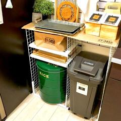 キッチン背面/トレー収納/根菜収納/野菜ストッカー/デッドスペース収納/デッドスペース活用/... わたしのDIYコンテストに参加します♪ …