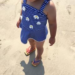 お買い得/セール品/1歳児/女の子ママ/こどものいる暮らし/水着/... 海遊びに行ってきました♪  普段も親子リ…