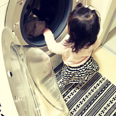 TOSHIBA/マジックドラム/洗面所/ドラム式洗濯機/洗濯機/洗濯物/... 洗濯機はTOSHIBAのマジックドラムを…