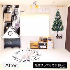 モノトーンインテリア/キッズスペース/リビングインテリア/畳コーナー/簡単リメイク/洋室に変える/... 少し前にリビングの畳コーナーを 洋室に簡…