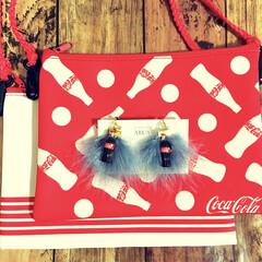ファッション小物/ファッション雑貨/冬小物/冬ファッション/コーラ/ハンドメイド雑貨/... バレンタインコーデは スイーツモチーフだ…