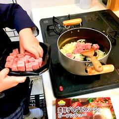 大好物/おかわり/親子で楽しく/晩ご飯/手作り料理/お手伝い/... 我が家の定番メニューのひとつ! ビーフシ…