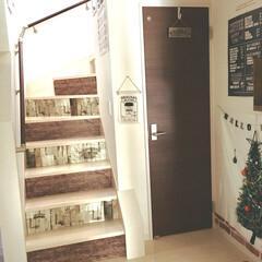 建売住宅/原状回復/カフェ風インテリア/リメイクシート/カラーボード/100均DIY/... ツリー(タペストリー)を飾って ハロウィ…