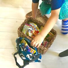 100均リメイク/キャンドゥリメイク/キャンドゥ/簡単/縫わない/かぼちゃパンツ/... 4歳と1歳の子どもがいます。 子どもの成…(2枚目)