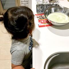 試作中/抹茶スイーツ/ありがとう/2歳/お手伝いだいすき/女の子ママ/... 2歳の娘がお手伝いに興味を持ち出しまして…