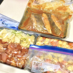 特売品/味噌漬け/親子丼/肉じゃが/下味レシピ/下味保存/... 今週分の下味冷凍◎  ・カレイの味噌漬け…