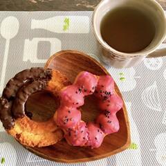 おうちランチ/お昼ごはん/甘党/チョコファッション/紫芋/ドーナツ/... 今日は何だかがっつり甘いものが食べたくて…