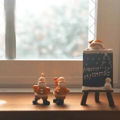 置物/インテリア雑貨/フォロー大歓迎/雑貨/インテリア/クリスマス お邪魔したお宅で出会った、可愛いサンタさ…