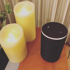 ルミナラSサイズ/LUMINARA Sサイズ LEDキャンドルライト 2014年モデル 結婚祝いや誕生日プレゼントに人気です。(テーブルライト)を使ったクチコミ「夜はALEXAくんに音楽をお任せしてゆっ…」