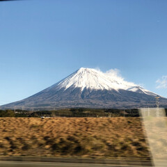 富士山/2018/旅行/風景 夫の田舎へ移動中。2018年で一番きれい…