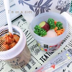 おひるごはん/燃焼スープ/ダイエット/おうちごはん *おひるごはん*  2日め♡燃焼スープの…