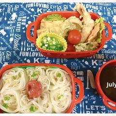 天ぷら/お弁当/そうめん *July 13 高1次男べんとう(*´…