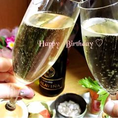 おうちでカンパイ♪(*^^)o∀*.../回転すし🍣/お誕生日/おでかけ ♡Happy birthday to m…(1枚目)