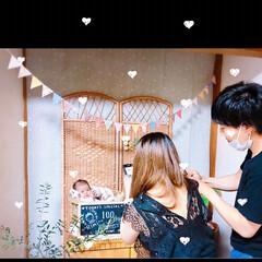 100日祝い/記念撮影/記念写真/記念日 *100日祝い*june 15* ばぁば…(3枚目)