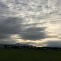 帰宅中/17時40分西の空 神秘的(*´꒳`*)♡