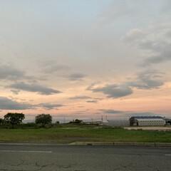 夕焼け/景色/空 おはようございます(*´꒳`*)  昨晩…(1枚目)