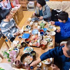 フルーツ盛り合わせ🍈🍓🍍/お赤飯/酢の物/お吸い物/茶碗蒸し/天ぷら/... *3月お祝いの日*  まごっちのお七夜(…(6枚目)